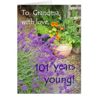 101o Tarjeta de cumpleaños para la abuela - flores
