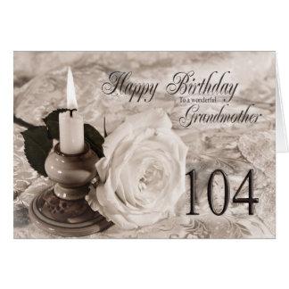 104o Tarjeta de cumpleaños para la abuela