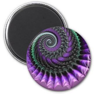 108-77 imán espiral metálico púrpura y verde