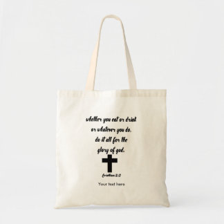 10:31 de los Corinthians Bolso De Tela