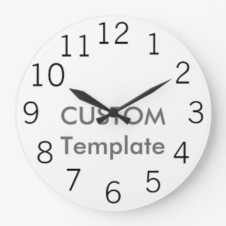 "10,75"" grande de encargo reloj de pared redondo"