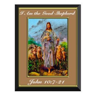 10:7 de Juan - 21 soy el buen marco de Brown del Postal