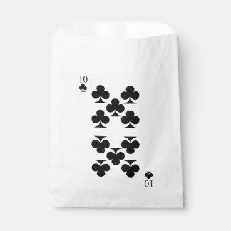 10 de clubs bolsa de papel