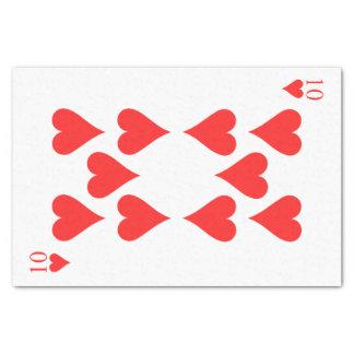 10 de corazones papel de seda