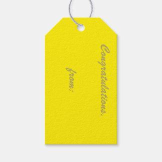 10-Pack de las etiquetas Canario-Amarillas del Etiquetas Para Regalos