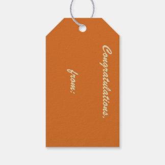 10-Pack de las etiquetas Canela-Coloreadas del Etiquetas Para Regalos