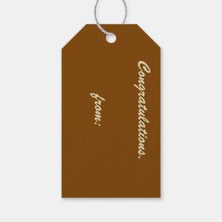 10-Pack de las etiquetas Chocolate-Coloreadas Etiquetas Para Regalos