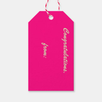 10-Pack de las etiquetas Rosa-Coloreadas del Etiquetas Para Regalos