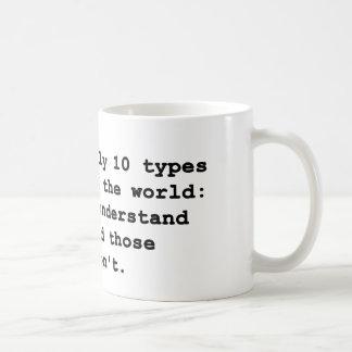 10 tipos de gente taza básica blanca
