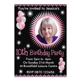 10ma invitación de la foto del cumpleaños de los