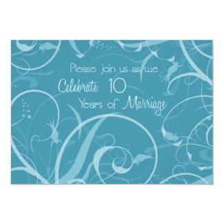 10ma invitación del aniversario de boda de la