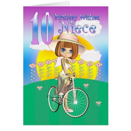 10ma tarjeta de cumpleaños de la sobrina con la ni