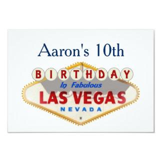 10ma tarjeta de cumpleaños de Las Vegas de Aaron Invitación 8,9 X 12,7 Cm