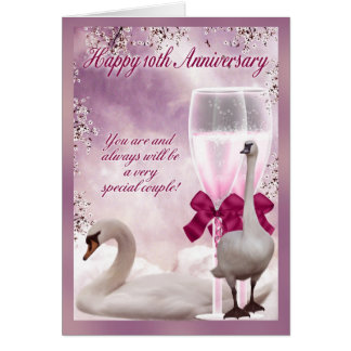 10mo aniversario - aniversario de la lata tarjeta de felicitación