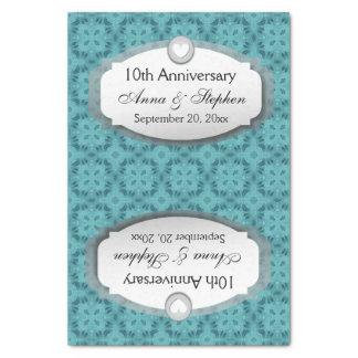 10mo Aniversario de boda del aniversario Z09 Papel De Seda