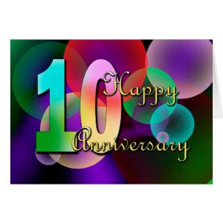 10mo aniversario feliz (aniversario de boda) tarjeta de felicitación