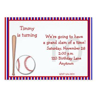 10mo béisbol del cumpleaños invitación 12,7 x 17,8 cm