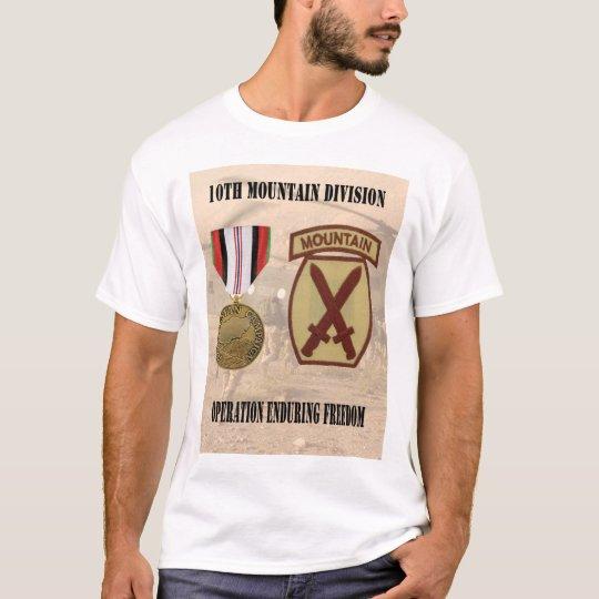 10mo Camisa de la división de la montaña