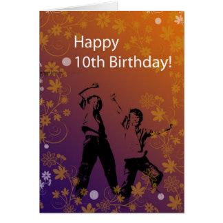 10mo Cumpleaños para los muchachos Tarjeta