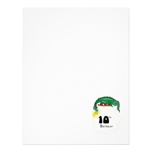 10mo Dragón del cumpleaños Folleto 21,6 X 28 Cm