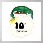 10mo Dragón del cumpleaños Posters