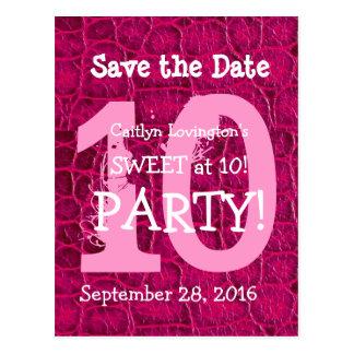 10mo Dulce del cumpleaños en la impresión rosada d
