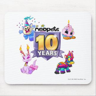 10mo Logotipo del cumpleaños Alfombrilla De Ratón