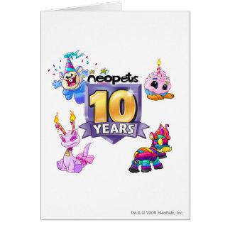 10mo Logotipo del cumpleaños Tarjeta De Felicitación