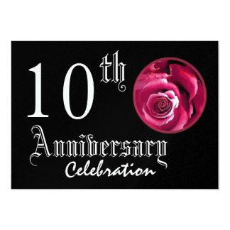 10mo Metálico superior del rosa rojo del Invitación 12,7 X 17,8 Cm