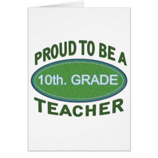 10mo orgulloso Profesor del grado Felicitación
