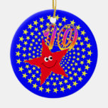 10mo Ornamento redondo de la estrella sonriente Ornamentos De Reyes