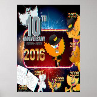 10mo poster 2016 del aniversario de Chester Póster