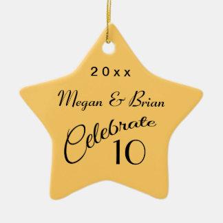 10mo Regalo-Estrella del aniversario Adornos De Navidad