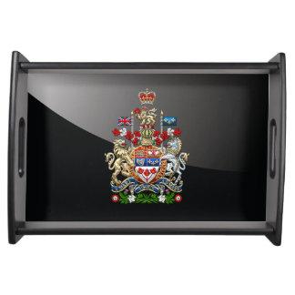 [110] Escudo de armas de Canadá [3D] Bandejas