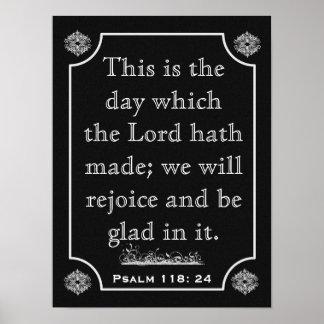 118:24 de los salmos --- Impresión del arte