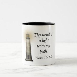 119:105 de los salmos -- Taza de café