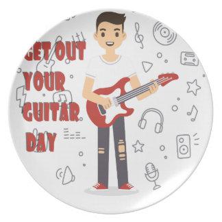 11 de febrero - salga de su día de la guitarra platos para fiestas