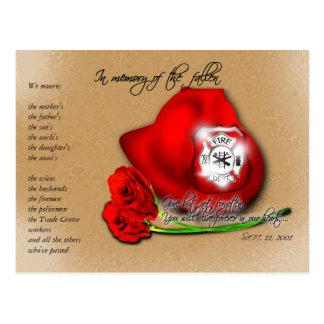 11 de septiembre 9/11 postal conmemorativa