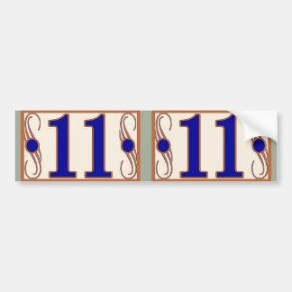 11 números de casa de Maguire 2 Pegatina Para Coche