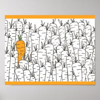 """11"""" x 8,5"""", las zanahorias valora el papel de póster"""