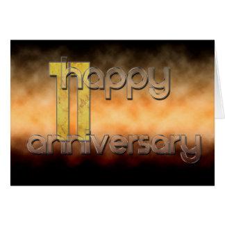 11mo aniversario feliz (aniversario de boda) tarjeta de felicitación