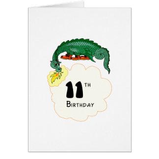 11mo Dragón del cumpleaños Tarjeta De Felicitación