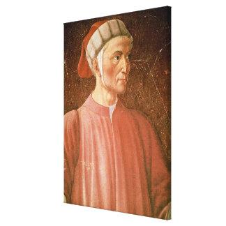 1265-1321) detalles de su busto, franco de Dante A Impresión En Lienzo