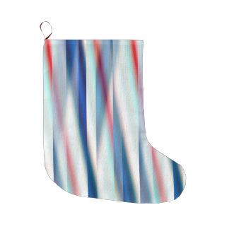 12 ambiente, diseñador original contemporáneo calcetín de navidad grande
