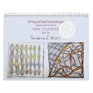 12 arte del calendario w/Original del mes