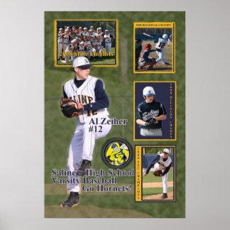 #12 béisbol salino del Al 2008 Poster