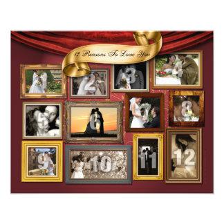 12 corazones que casan la ampliación de la foto