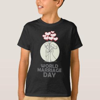12 de febrero - día de la boda del mundo camiseta