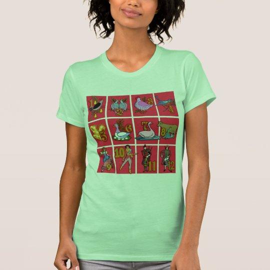 12 días de camisetas del navidad, ropa, regalos
