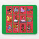 12 días de camisetas del navidad, ropa, regalos alfombrilla de raton